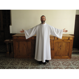 Aube de prêtre ou de diacre ACO ivoire