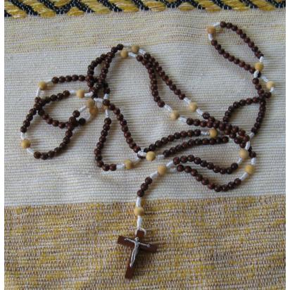 Rosaire 6 bi colore de Croix & Chapelets