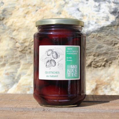 Bocaux de QUETSCHES au naturel – Abbaye de Rosans - 770 g de Epicerie fine
