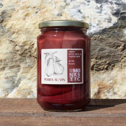 Bocaux de POIRES AU VIN – Abbaye de Rosans - 730 g de Epicerie fine