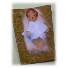 Enfant Jésus en cire 3x3 cm