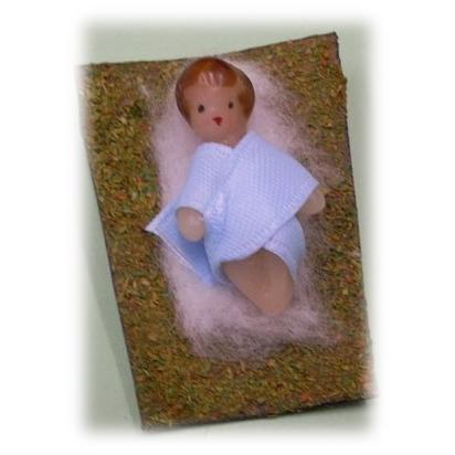 Enfant Jésus en cire 3x3 cm de Statues & Statuettes