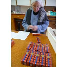 Petits bouchons d'Igny assortis en étui de 12 de Chocolats