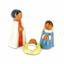 CRECHE - Sainte Famille - Santons en terre cuite (9 cm) N°50