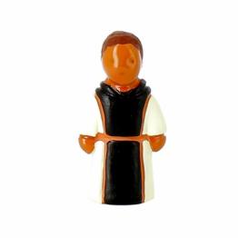CRECHE - Le Frère Bernard le moine cistercien - Santons en terre cuite (6cm) de Crèches