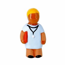 CRECHE - Le médecin - Santons en terre cuite (6cm) N°34