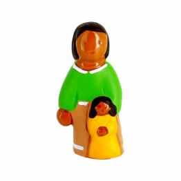CRECHE - La maman - Santons en terre cuite (6cm) N°59
