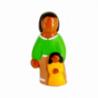 CRECHE - La maman - Santons en terre cuite (6cm) N°59 de Crèches