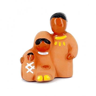 CRECHE - Mini Sainte famille - Santons en terre cuite (6cm) N°38 de Crèches