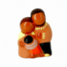 CRECHE - Les grands parents - Santons en terre cuite (6cm) N°30 de Crèches