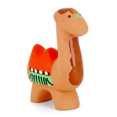 CRECHE - Le chameau - Santons en terre cuite (6cm) N°21 de Crèches de Noël