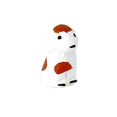 CRECHE - Le chien blanc - Santons en terre cuite (3,5cm) N°28 de Crèches de Noël
