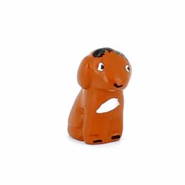 CRECHE - Le chien brun - Santons en terre cuite (3,5cm) N°1
