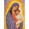 Icône religieuse de la Vierge de lumière avec l'Enfant de Icônes contemporaines