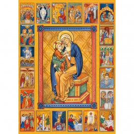 Icône des 20 Mystères du Rosaire de Icônes contemporaines