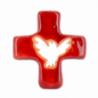 Croix colombe rouge (10x10 cm) de Crèches de Noël
