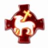 Croix agneau marron (10x10 cm) de Crèches de Noël