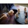 CRECHE - Le boulanger - Santons en céramique (6cm) N°65 nouveauté 2018 de Crèches de Noël