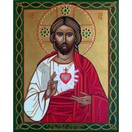 Icône du Cœur Sacré et Miséricordieux de Jésus de Icônes contemporaines