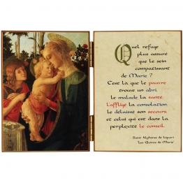 Diptyque religieux de la Vierge à l'Enfant et Saint Jean-Baptiste
