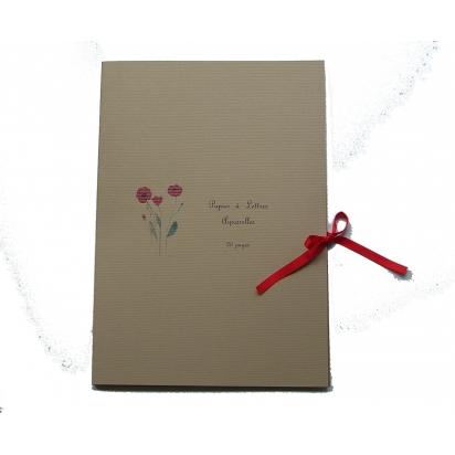 Papier à lettres fleurs de Carterie