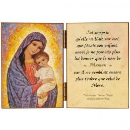 Diptyque religieux de la Mère de Dieu et l'Enfant Jésus