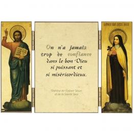 Triptyque de sainte Thérèse sur la confiance