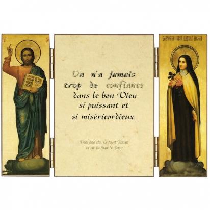 Triptyque de sainte Thérèse sur la confiance de Triptyques