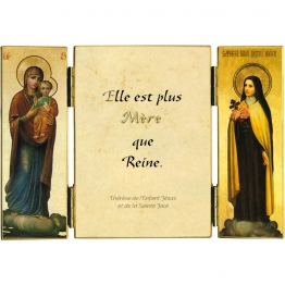 Triptyque de sainte Thérèse sur Marie