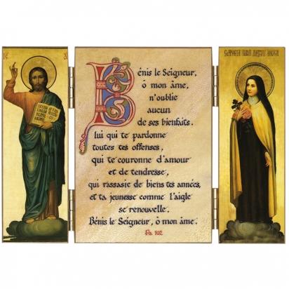Triptyque de sainte Thérèse sur l'action de grâce de Triptyques