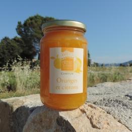 confiture d'oranges et citrons, 430 gr