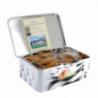 Boîte en métal de galettes sablées de Biscuits