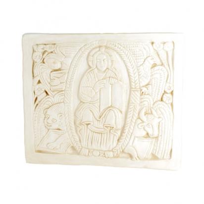 CRECHE - Plaque Christ au tétramorphe de Maison