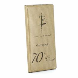 Tablette de chocolat noir 70% cacao de Confiseries