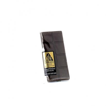Mini tablette de chocolat noir de Confiseries