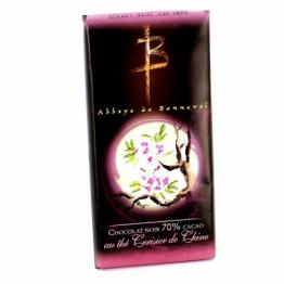 Tablette de chocolat noir au thé cerisier de Chine