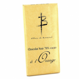 Tablette de chocolat noir à l'orange de Confiseries