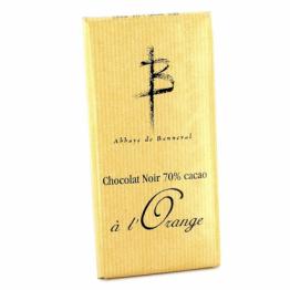 Tablette de chocolat noir à l'orange