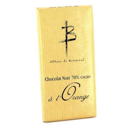 Tablette de chocolat noir à l'orange de Confiseries