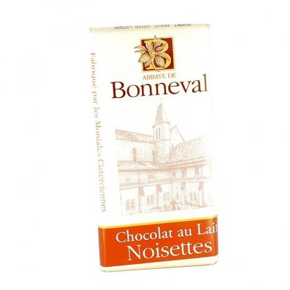 Tablette de chocolat au lait et noisettes de Confiseries
