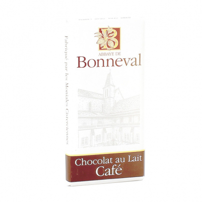 Tablette de chocolat au lait et café de Confiseries