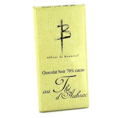 Tablette de chocolat noir au thé d'Aubrac de Confiseries