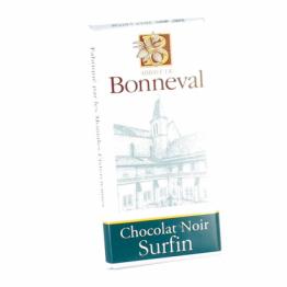 Tablette de chocolat noir surfin