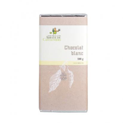 Tablette de chocolat blanc de Confiseries