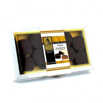 Coffret de chocolat 10 palets feuilletine de Confiseries