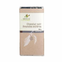 Tablette de chocolat noir aux amandes entières de Confiseries