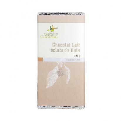 Tablette de chocolat au lait et éclats de noix de Confiseries