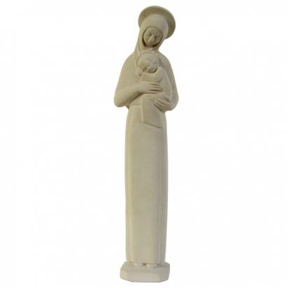 Statue religieuse de la Vierge Mère auréolée ton pierre de La Vierge Marie