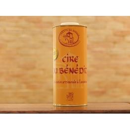 Cire du BENEDIT liquide 1 Litre (le bidon de taille moyenne - étiquette JAUNE) - Encaustique à l'ancienne à la cire d'abeille