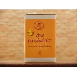 Cire du BENEDIT liquide 5 Litres (le grand bidon - etiquette JAUNE) - encaustique à l'ancienne la cire d'abeille de Entretien...